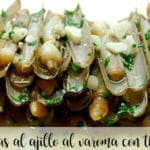 Razor clams with garlic and varoma with thermomix