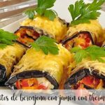 Eggplant rolls with ham with thermomix