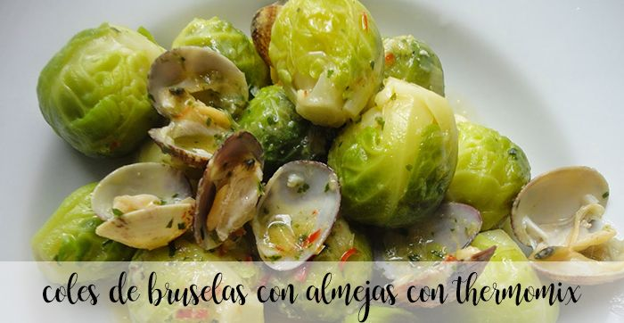 Brussels sprouts with clams with thermomix