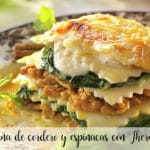 Lamb and spinach lasagna with Thermomix