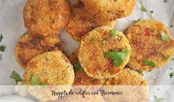 Cauliflower nuggets with Thermomix