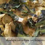 Artichokes with chard beer with Thermomix