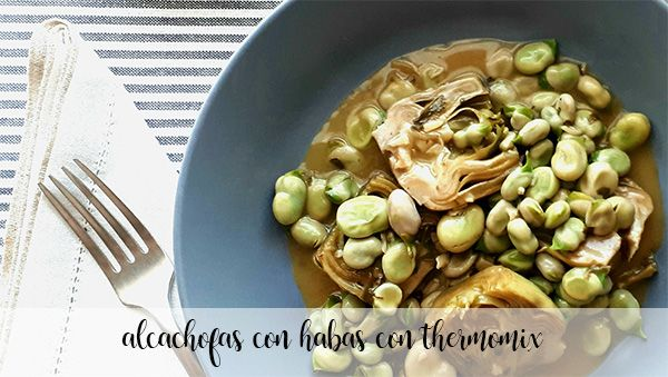 Artichokes with beans with Thermomix
