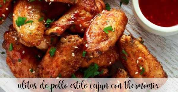 cajun chicken wings with thermomix