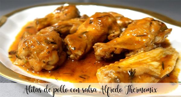 Chicken wings with Alfredo Thermomix sauce
