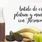 Oreo, banana and apple smoothie with Thermomix