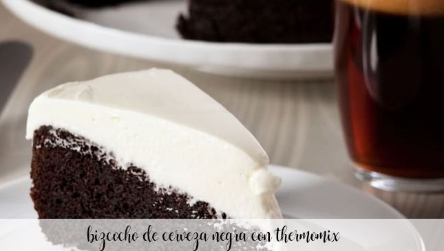Black beer sponge cake with Thermomix