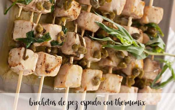 Emperor beer skewers with thermomix