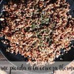 Beer minced meat with thermomix