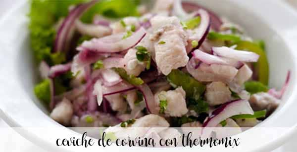 Corvina ceviche with thermomix