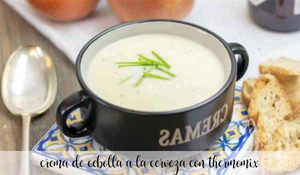 Onion cream with beer with Thermomix