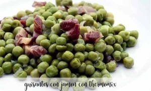 Peas with ham with thermomix