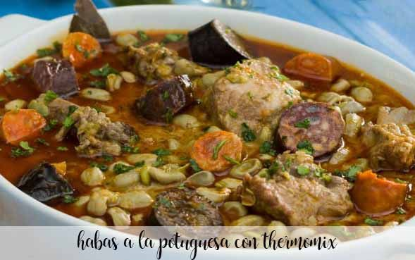 Portuguese beans with Thermomix