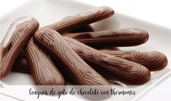 Chocolate cat tongues with Thermomix