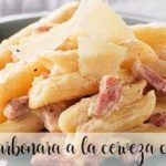 carbonara macaroni beer with thermomix