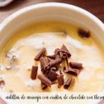 Orange custard with chocolate shavings with thermomix