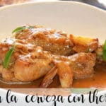 Spicy beer chicken with Thermomix