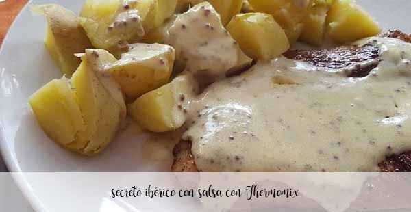Iberian secret with sauce with Thermomix