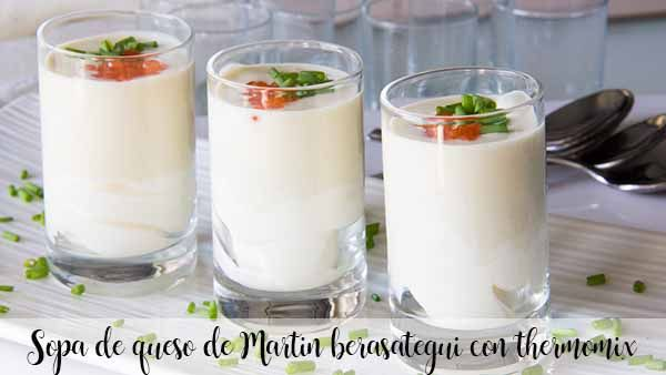 Martin berasategui cheese soup with thermomix