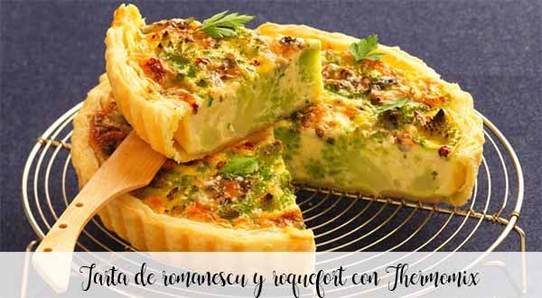 Romanescu and roquefort cake with Thermomix