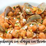 Chickpeas with clams with Thermomix