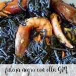 Black Fideua with GM pot