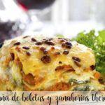 Boletus and carrots lasagna thermomix