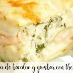 Cod and prawn lasagna with thermomix