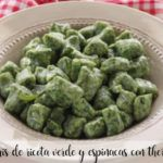 Green ricotta gnocchi and spinach with thermomix