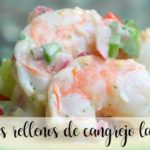Avocados stuffed with crab, prawns and mayonnaise with Thermomix