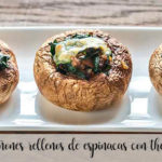 Spinach stuffed mushrooms with thermomix