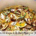 Daviz Muñoz spaghetti with clam with Thermomix