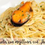Spaghetti with mussels with Thermomix