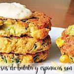 Sweet potato and spinach burgers with Thermomix