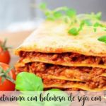 Vegetarian lasagna with soy bolognese with Thermomix