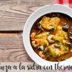Hake in cider with thermomix