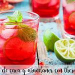 cava and blueberry mojito with thermomix