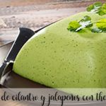 Cilantro and jalapeño mousse with thermomix