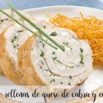 Chicken breasts stuffed with goat cheese and endives thermomix