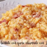 Sweet potato risotto with smoked cheese with Thermomix