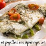 Turbot en papillote with asparagus with thermomix