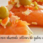Smoked salmon rolls stuffed with eels with Thermomix