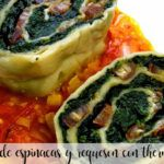 Spinach and cottage cheese rotolo with Thermomix