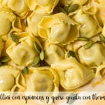 Tortellini with spinach and gouda cheese with thermomix
