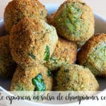 Spinach meatballs in mushroom sauce with Thermomix