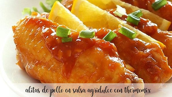 Chicken wings in sweet and sour sauce with Thermomix