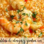 Soupy rice with clams and prawns with Thermomix