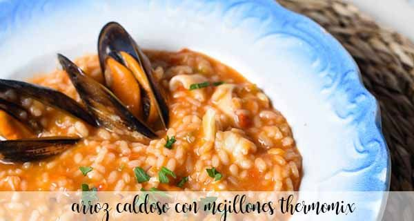 Soupy rice with mussels with Thermomix