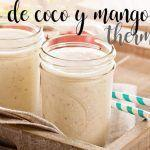 mango and coconut smoothie with thermomix