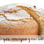 Mascarpone cheese and coconut cake with Thermomix